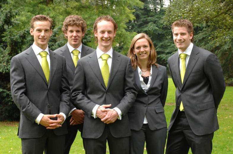 From left to right: Luuk, Arjan, Martijn, Marion and Wouter